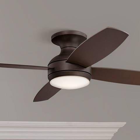 52 Casa Elite Oil Rubbed Bronze Led Hugger Ceiling Fan 8y398