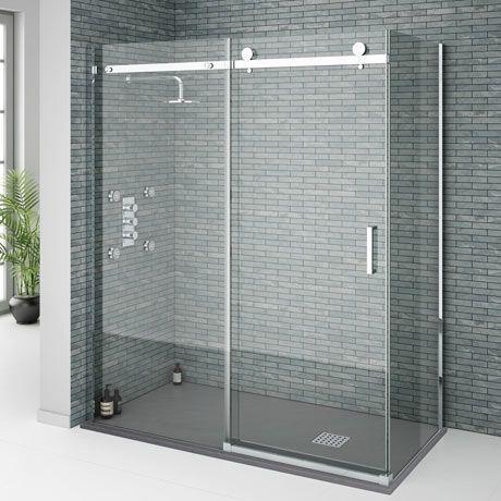 Orion Frameless Sliding Shower Enclosure 1600 X 800mm With
