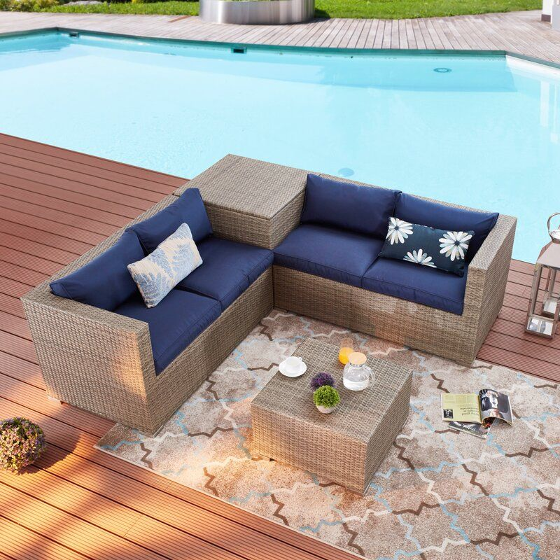 Vankirk 4 Piece Sectional Seating Group With Cushions Seating Groups Outdoor Living Areas Sofa Set