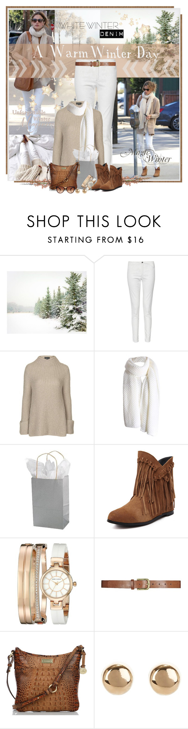 """""""A Warm Winter Day"""" by cathy1965 ❤ liked on Polyvore featuring Pottery Barn, French Connection, Topshop, Anne Klein, Brahmin, Jules Smith and Dolce&Gabbana"""