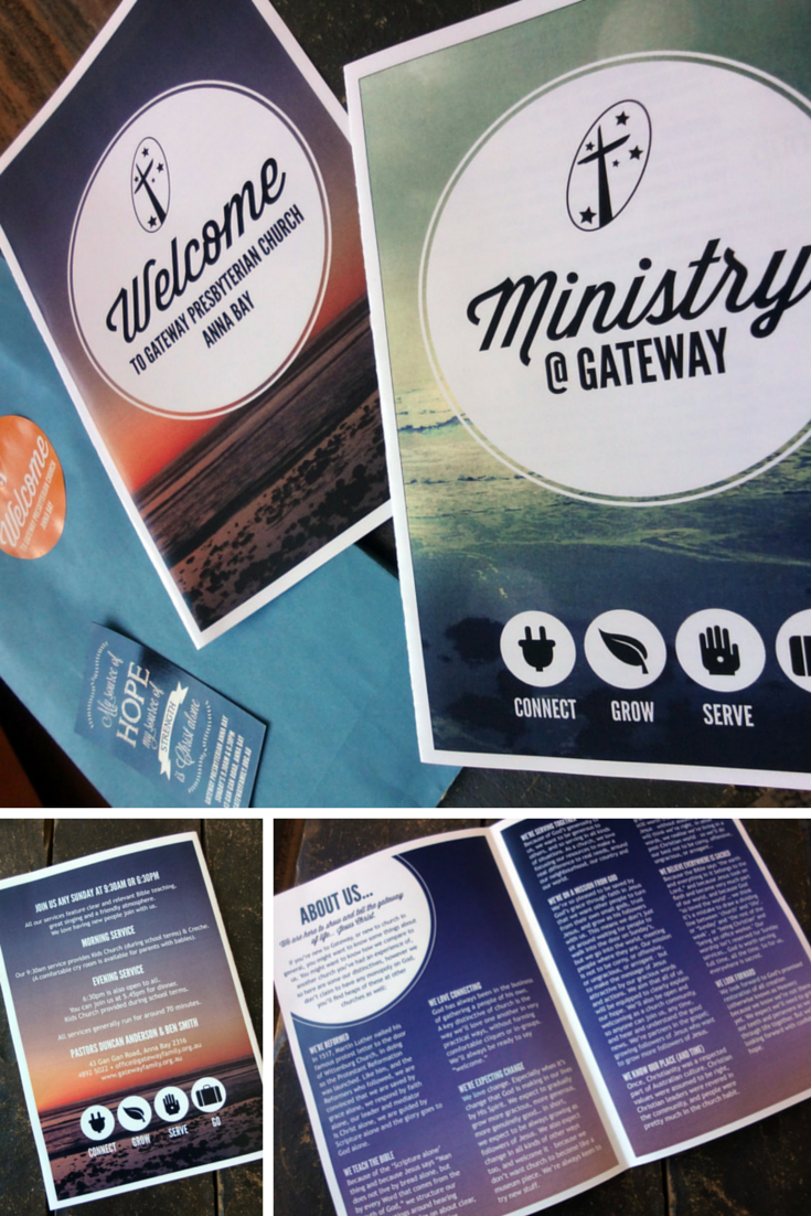 Gateway welcome pack we created a little welcome pack for visitors to our church it includes a Interior design welcome packet