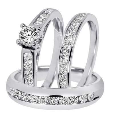 fresh affordable diamond infinity wedding ring set in k white gold jewelocean - Matching Wedding Ring Sets