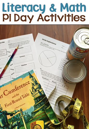 Two awesome literacy and math activities for Pi Day! Both activities are included in Laura Candler's March Activities pack along with other easy and engaging seasonal lessons. Your kids will love these!