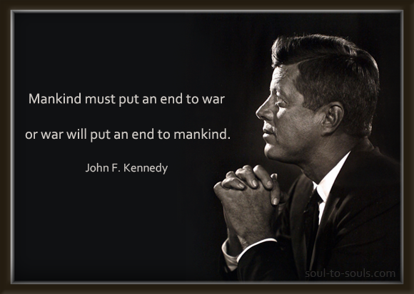 jfk quote about war