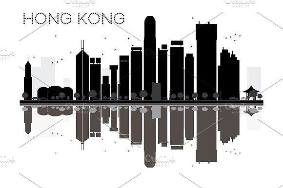 Hong Kong City Skyline City Skyline City Skyline Silhouette Skyline Silhouette