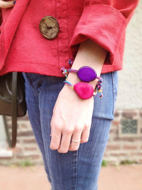 Tagua or vegetable ivory bracelets