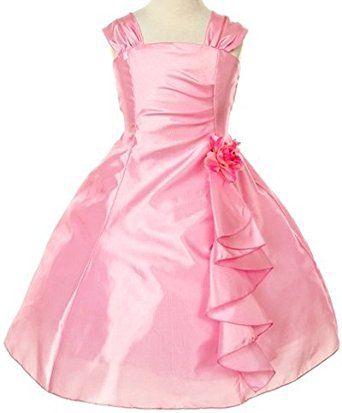 30d78699cf Pink Wings Girls party Wear Knee Length Dress(PINKPLATE01) (18-24 Months