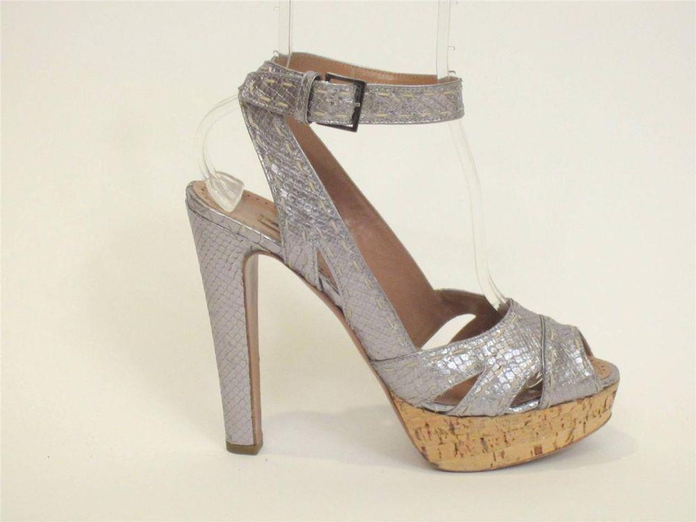 free shipping genuine comfortable Alaïa Metallic Platform Sandals clearance online ebay H2YBzcRq