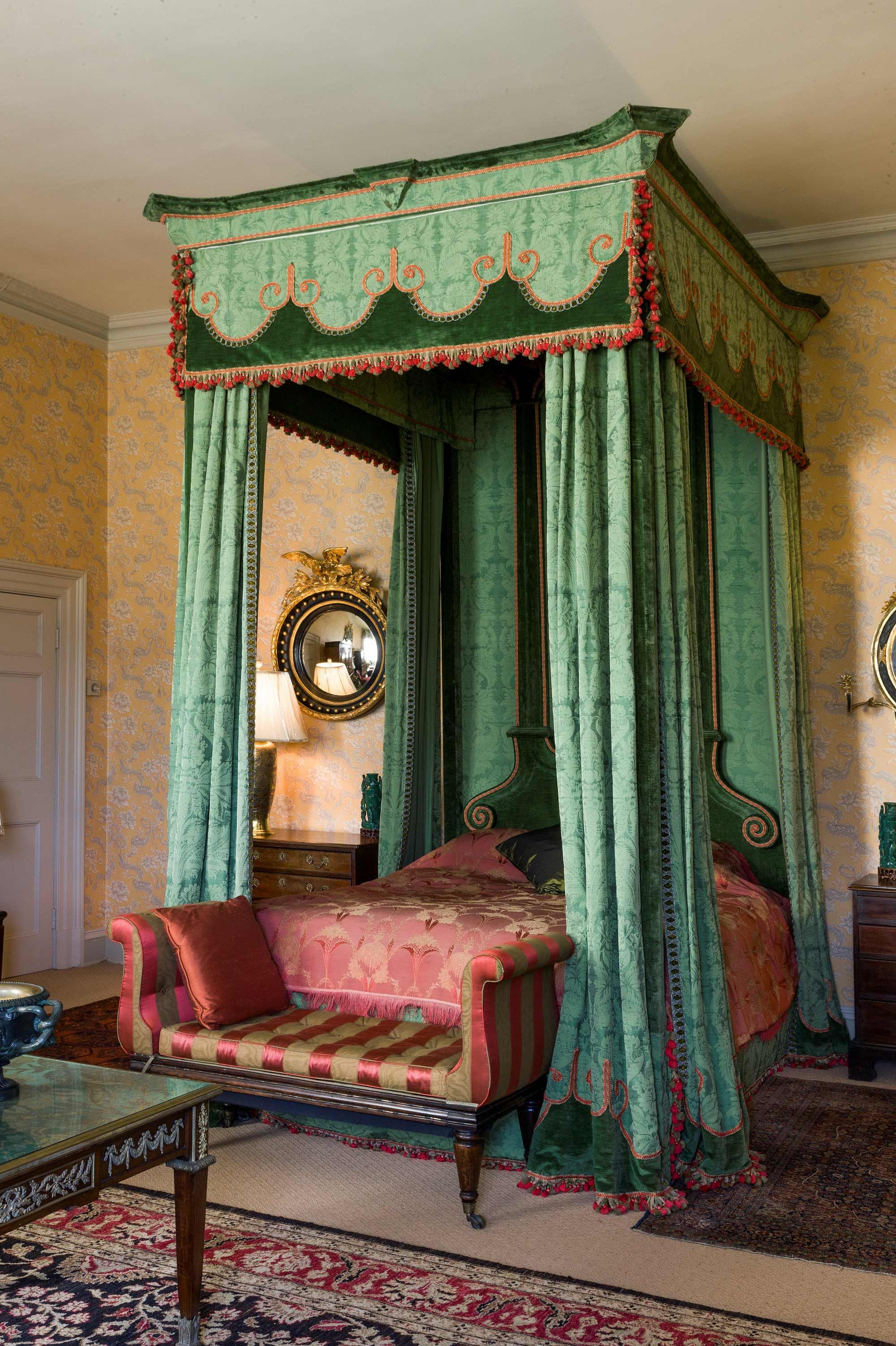 Imposing 17th century style Four Poster Bed, the headboard