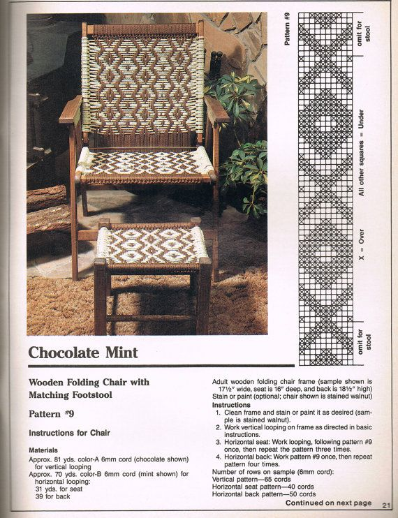 Country Living Patio Furniture Replacement Cushions: Macrame Chairs For Country Living Plaid 8313
