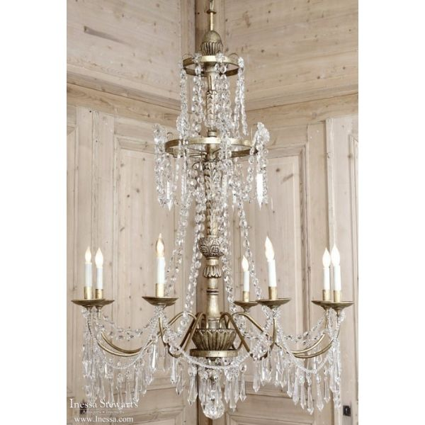 Antique Lighting | Reproduction Chandeliers | Neoclassical Crystal  Chandelier | www.inessa.com - Antique Lighting Reproduction Chandeliers Neoclassical Crystal