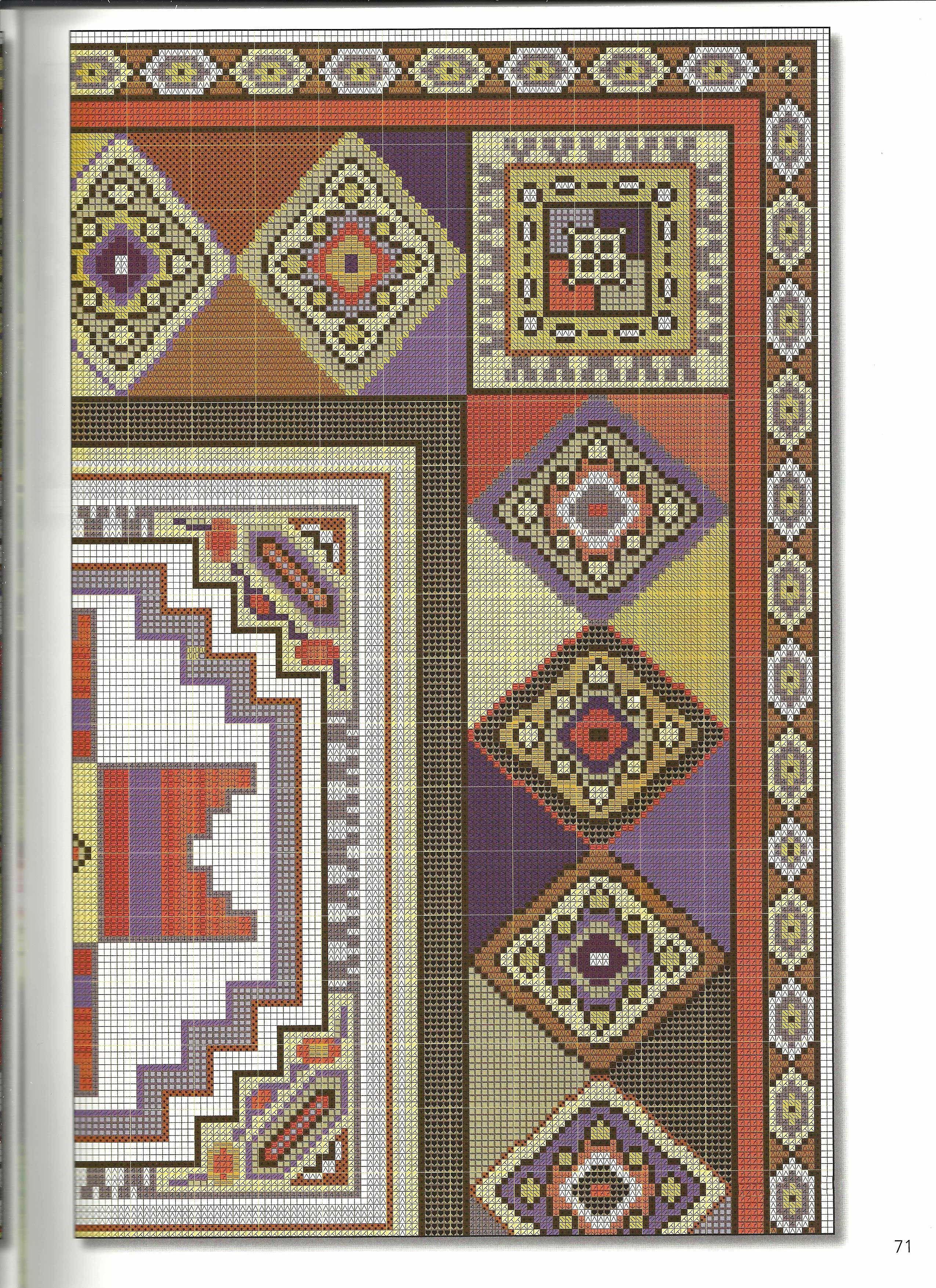 71 Jpg Desenhos Geom Tricos Para Ponto Cruz E Bordados Pinterest  -> Tapetes Desenhos