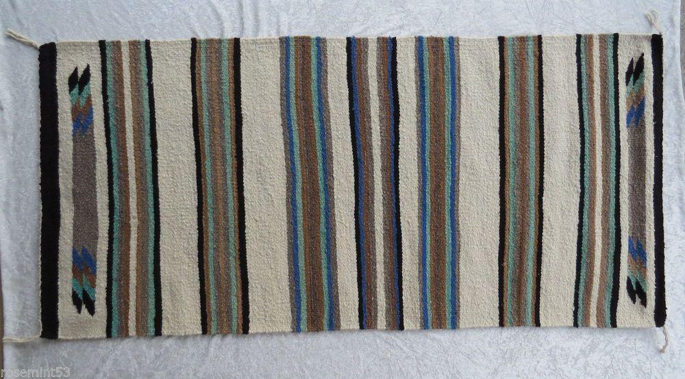 Vintage Navajo Saddle Blanket 1970s Hand Woven Wall Hanging Juliet B Help