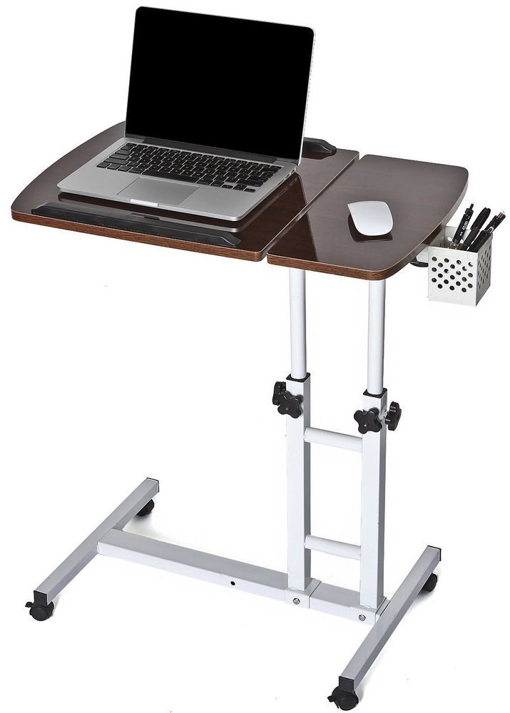 table tilting tabletop desk pc choice products laptop best hospital overbed rolling w food tray tv