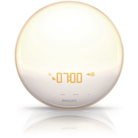 Philips Wake Up Light With Colored Sunrise Sunset Simulation And New Powerbackup Feature Hf3520 60 Walmart Com Light Alarm Clock Light Therapy Philips