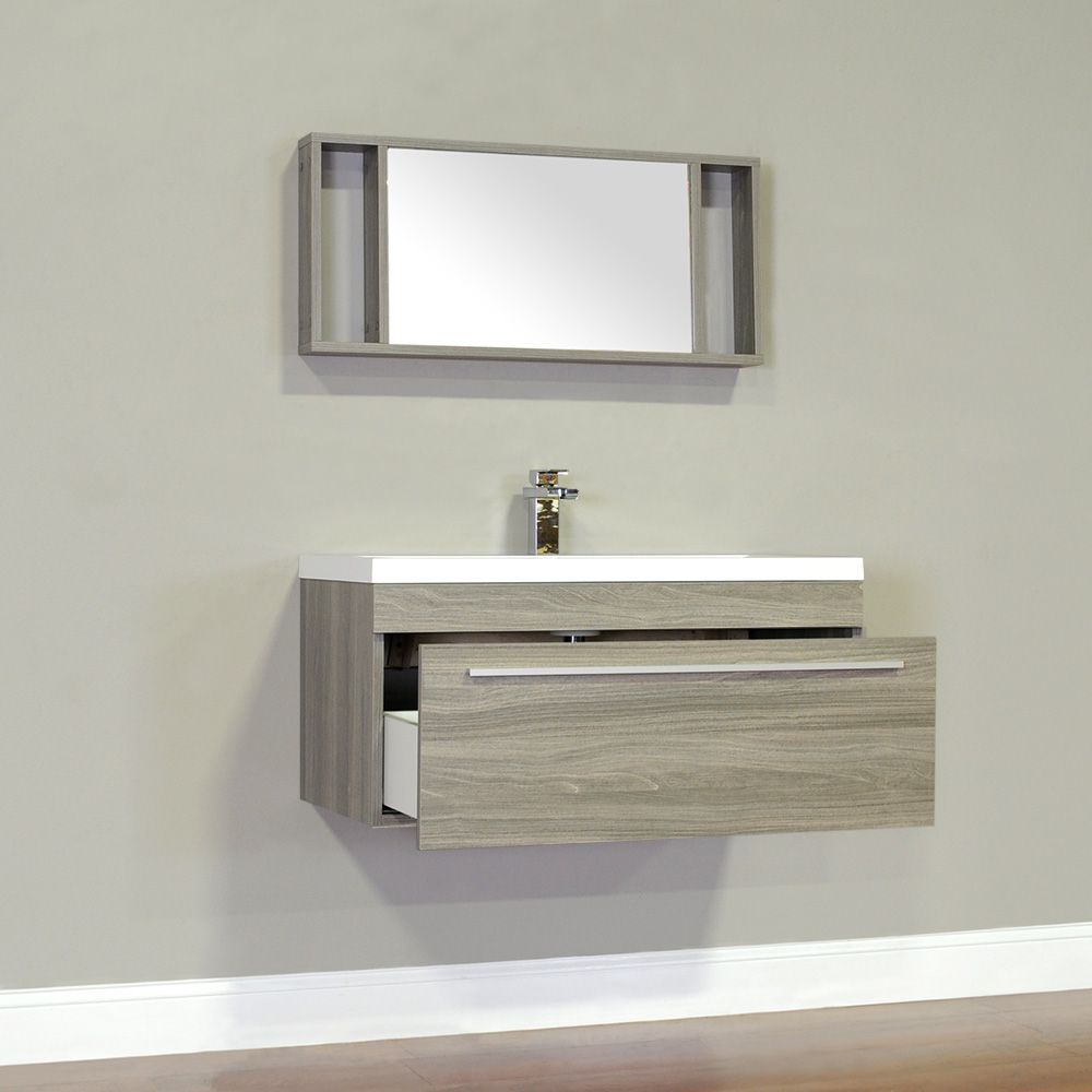 "ALYA-AT-8090-G 36"" Single Modern Bathroom Vanity | Gray"