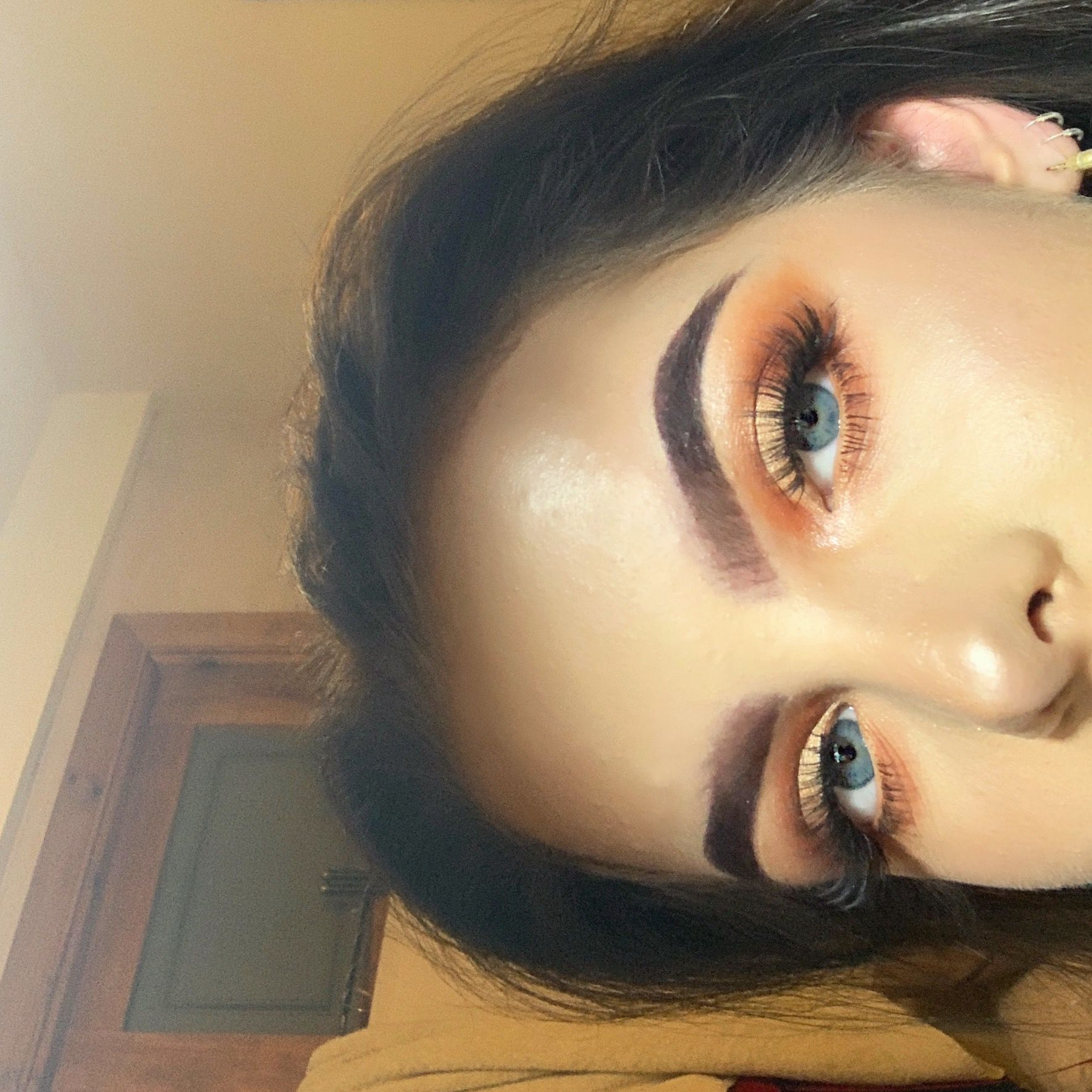 08f8447a068 Simple cut crease finished with doll beauty lashes in 'sarah hi ...