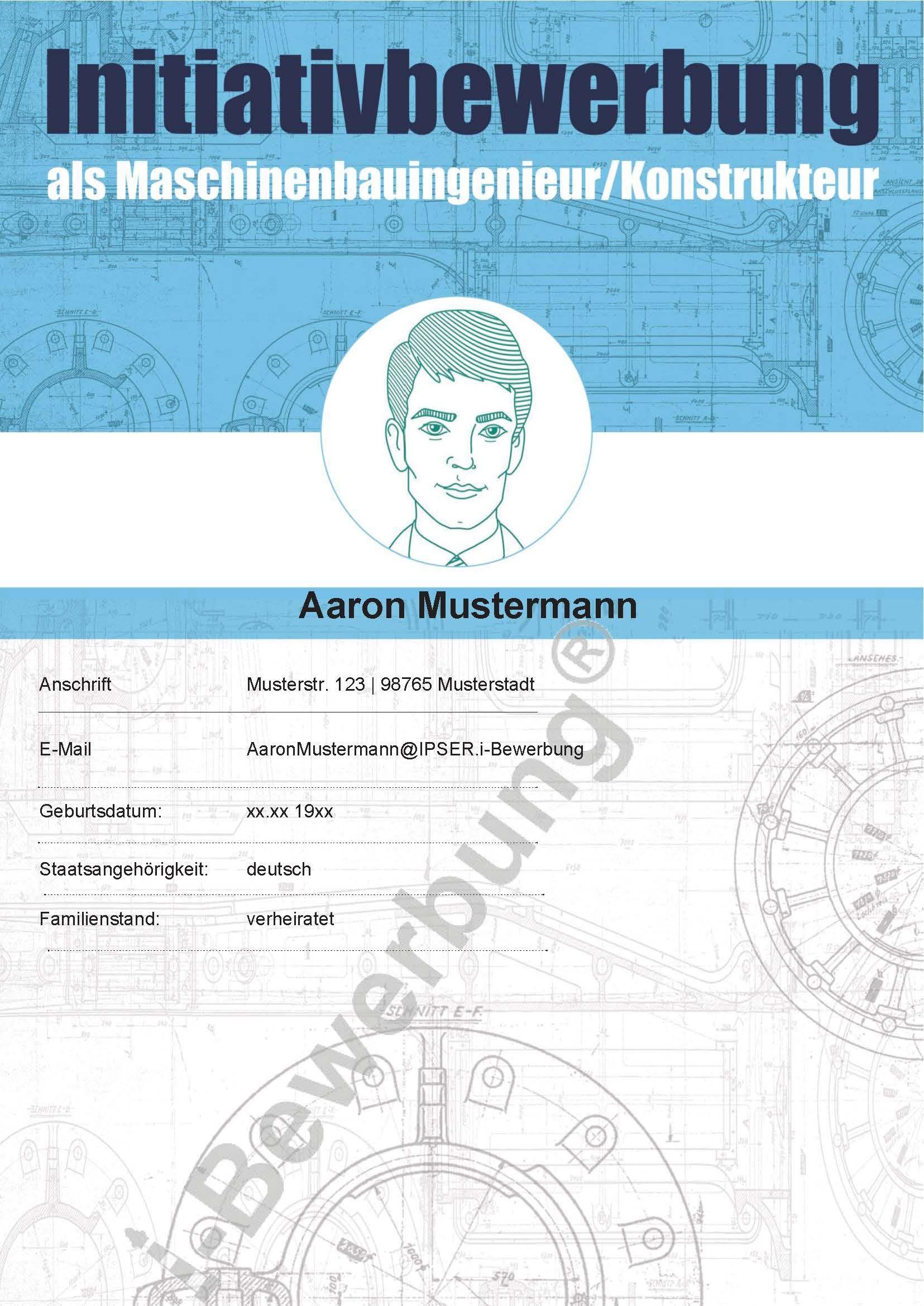Muster Deckblatt Initiativbewerbung Als Maschinenbau Ingenieur Deckblatt Erstellen Vorlage Deckblatt Bewerbung Deckblatt Vorlage