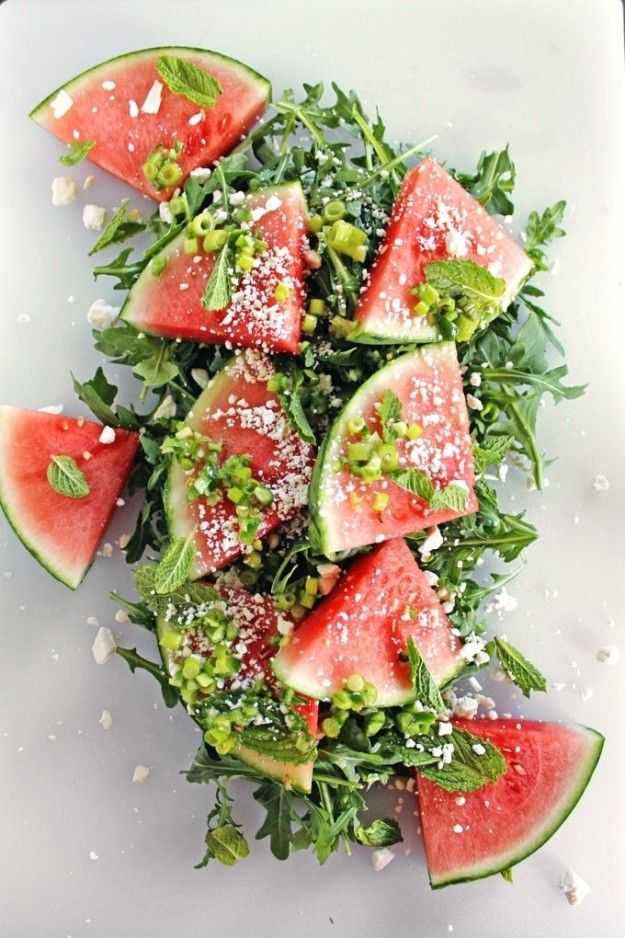 Spicy Watermelon Arugula Salad