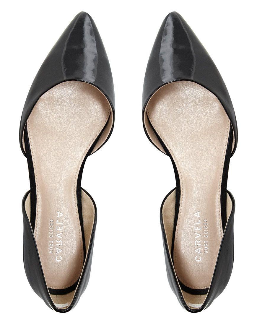 Chaussure De Point De Slingback Plat - Carvela Noir icf15k