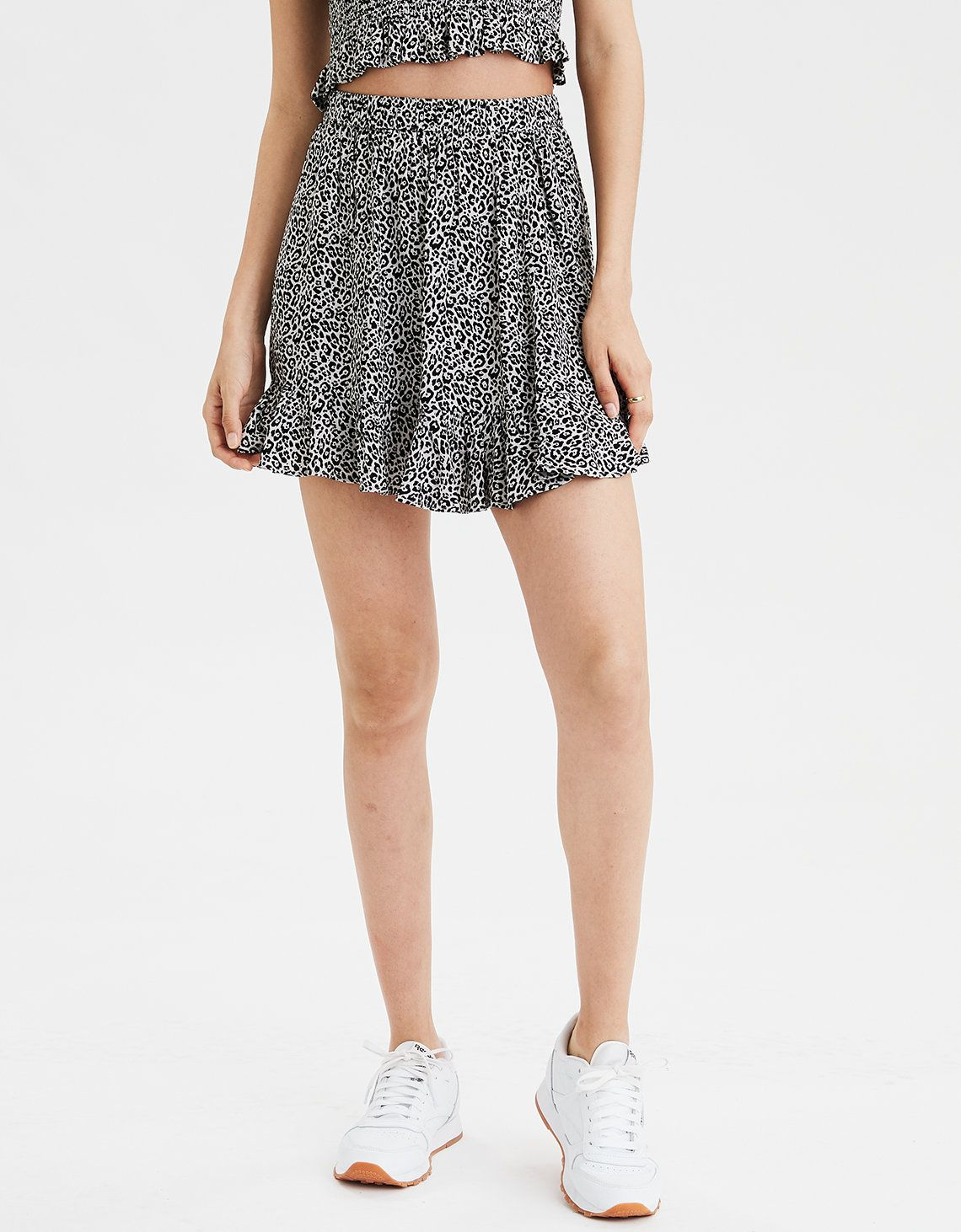 American Apparel Stretch Cotton High Waist Skater Skirt Watermelon Coral S NEW
