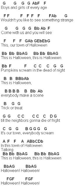 halloween songs notes
