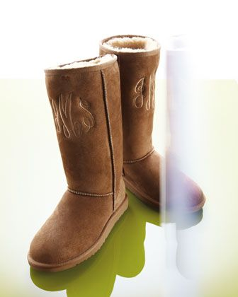 f1b0a07612e Monogrammed Classic Tall Boot, Chestnut - Neiman Marcus | style ...