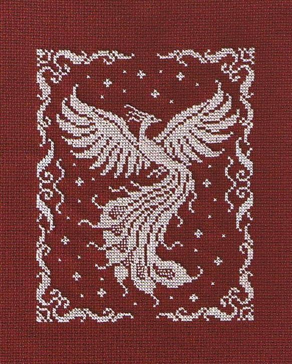 Жар птица схема вышивки крестом