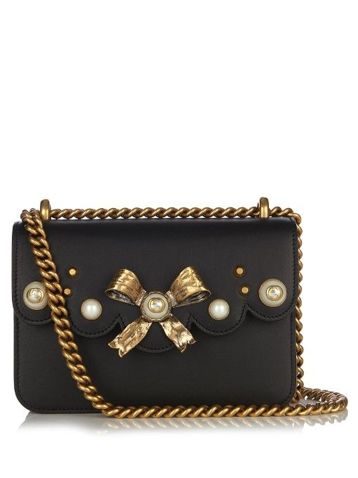 801737e25 Gucci Peony leather shoulder bag | All about the bag! | Bags ...