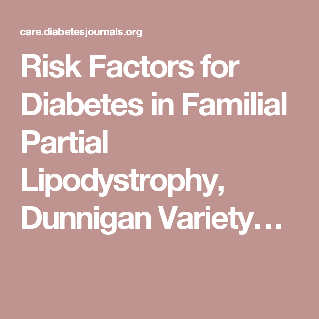 Risk Factors for Diabetes in Familial Partial Lipodystrophy