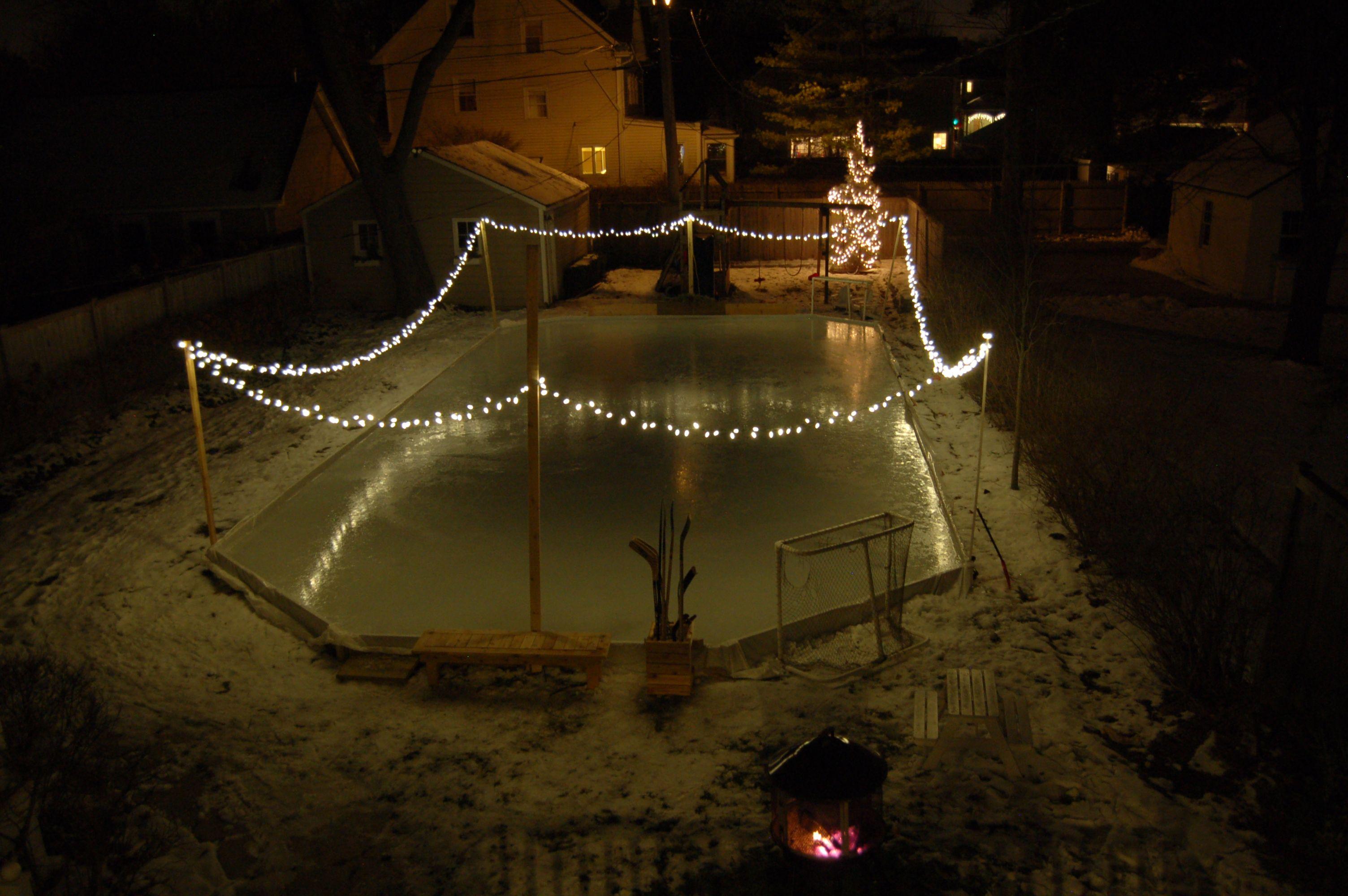 2013 backyard ice rink backyard ice rink pinterest backyard