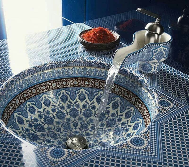 Turkish Basin | Sink design, Moroccan interiors, Beautiful bathrooms