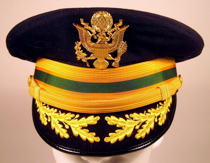 3479dfa50f31 US Army Field Officer Military Police MP Service Dress Blues Hat Cap ...