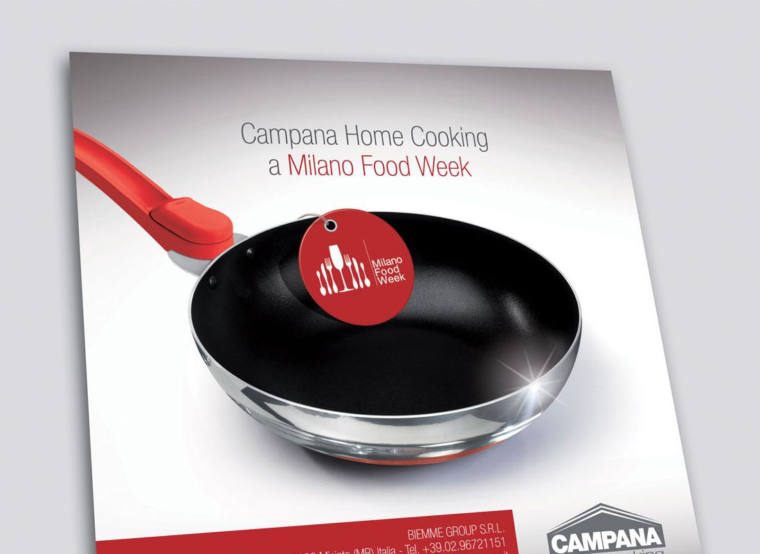 Campana Home Cooking at Milano Food Week. Cookware design