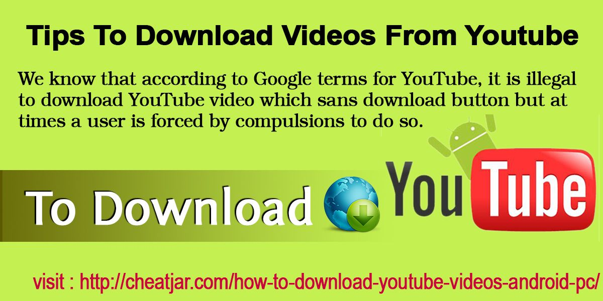 Youtube videos download legal.