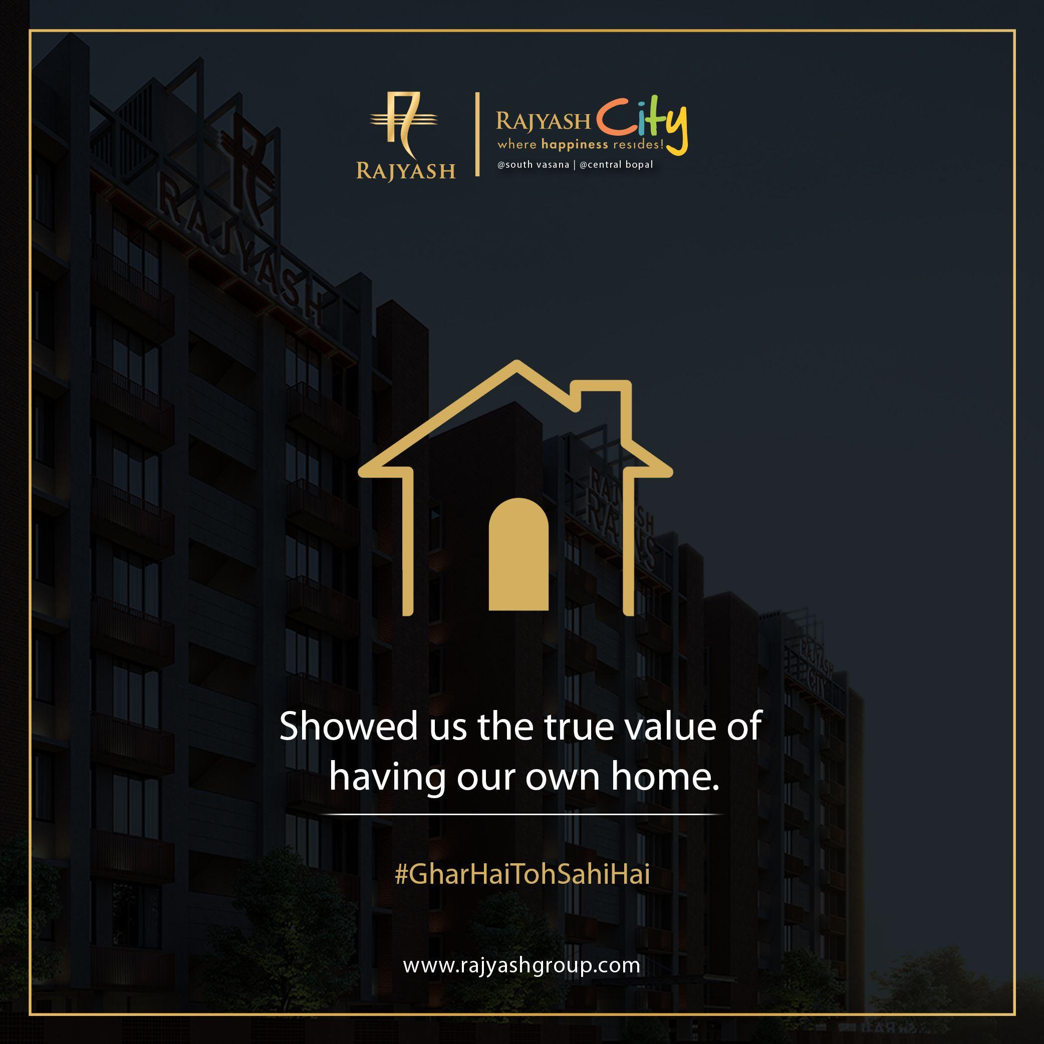 Live in the house of your dreams at RajYash Homes. . . . #GharHaiToSahiHai #DreamHome #RajYash #Rajyashgroup #Rajyashcity #Realestate #Buildinglandmarks #Investmentproperty #Royalrajyash #RajyashLandmark #Property #Ahmedabad
