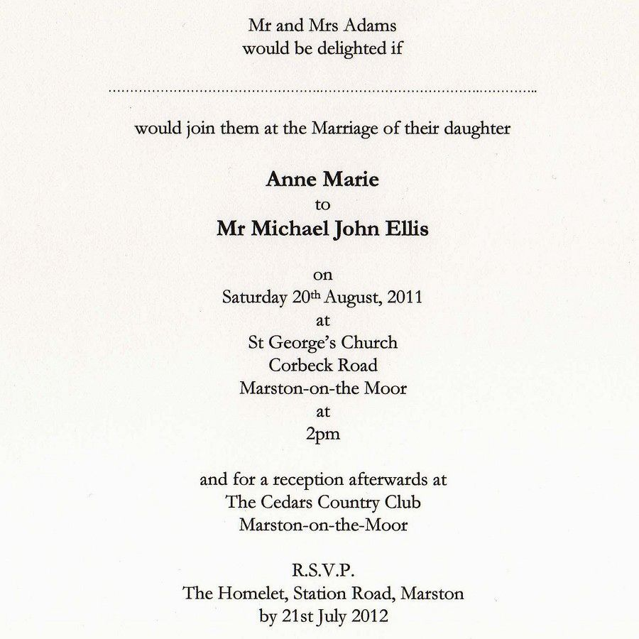 Wedding Invitations Ideas Pinterest: Download Traditional Wedding Invitation Wording