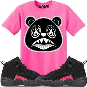 0e6b90b556beaf Jordan 12 Pink Rush Sneaker Tees Shirt to match is available in sizes  Small-3XL