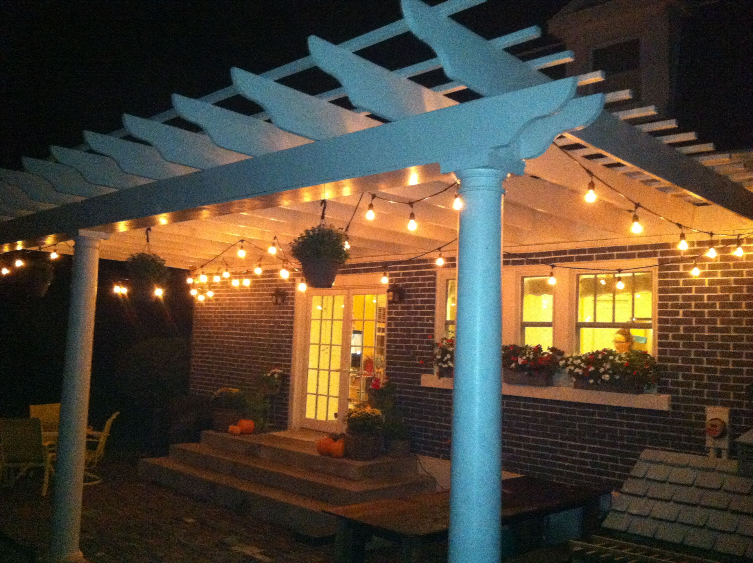 Exceptionnel Our New Pergola And Cafe Patio Lights