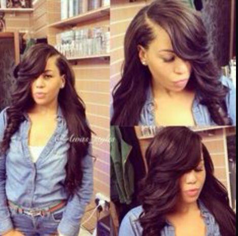 Invisiblepart Sidebangs Curls Weavef Weave Hairstyles
