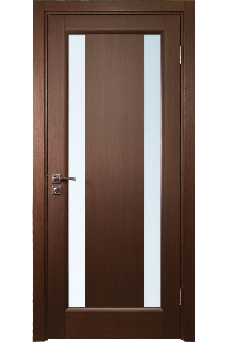 Interior frosted glass door -  Stella Wenge Interior Door With Frozen Glass