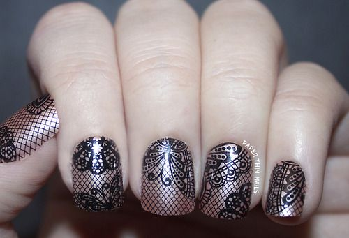 @Influenster imPRESS press-on manicure in lace print. Another item from my #collegevoxbox (this is not my picture) Excited to try these out tomorrow!