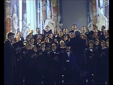Lithuanian boy's and men's choir 'Ąžuoliukas' (Little Oak) singing 'Ave Regina Caelorum' by Lithuanian composer Vytautas Miškinis.