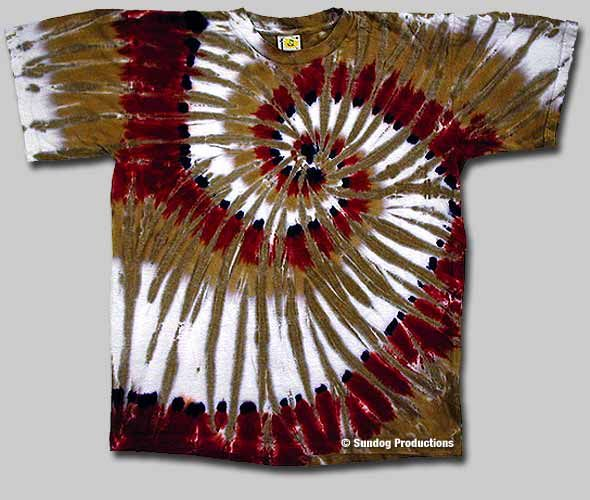 4f9b836a Swirl Tie Dye T-Shirt - Canyon Red   Sundog: Custom t-shirt designer,  screen printer and manufacturer. Fairfax VA.