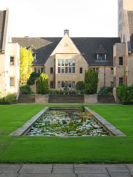 Nuffield College, University of Oxford specializes in the social sciences, particularly economics, politics (especially psephology), & sociology. Founded 1937, on land donated to the university by William Morris, 1st Viscount Nuffield (Lord Nuffield) after whom it is named.  Restrictions on construction after WWII meant that work was not completed until 1960.