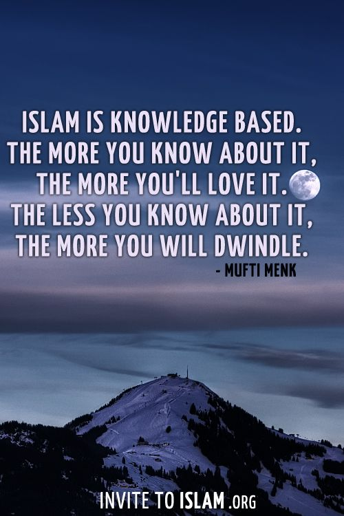 Islam Is Knowledge Based Islamic Quotes Islam Islamic