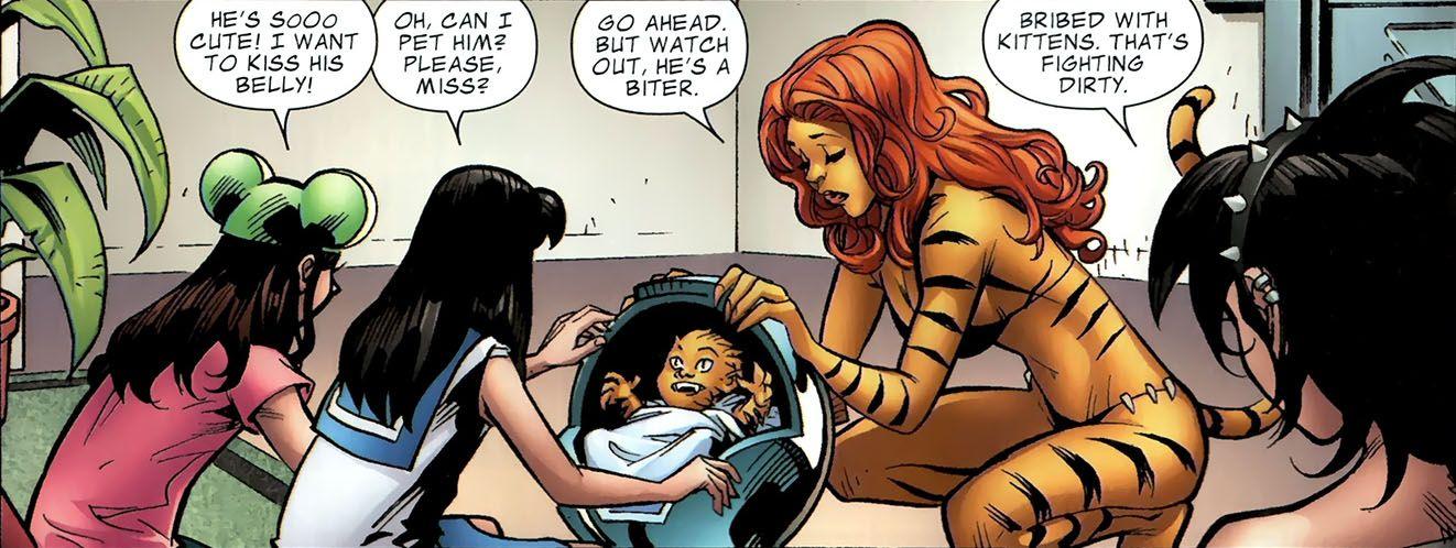 Marvel Tigra Son Greer Grant Nel...