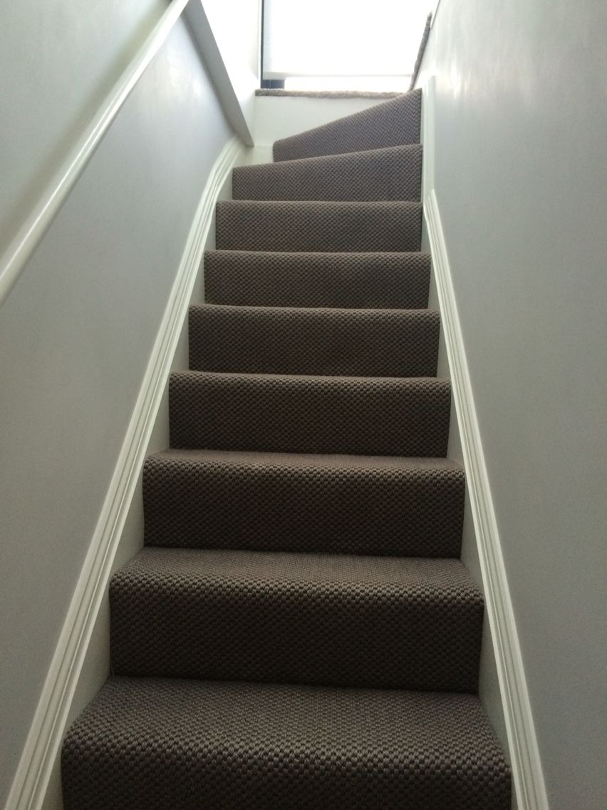 Grey natural sisal carpet to loft conversion.