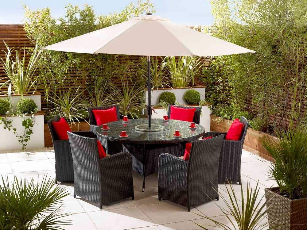 6 seater rattan dining set rattan garden furniture living it up living it