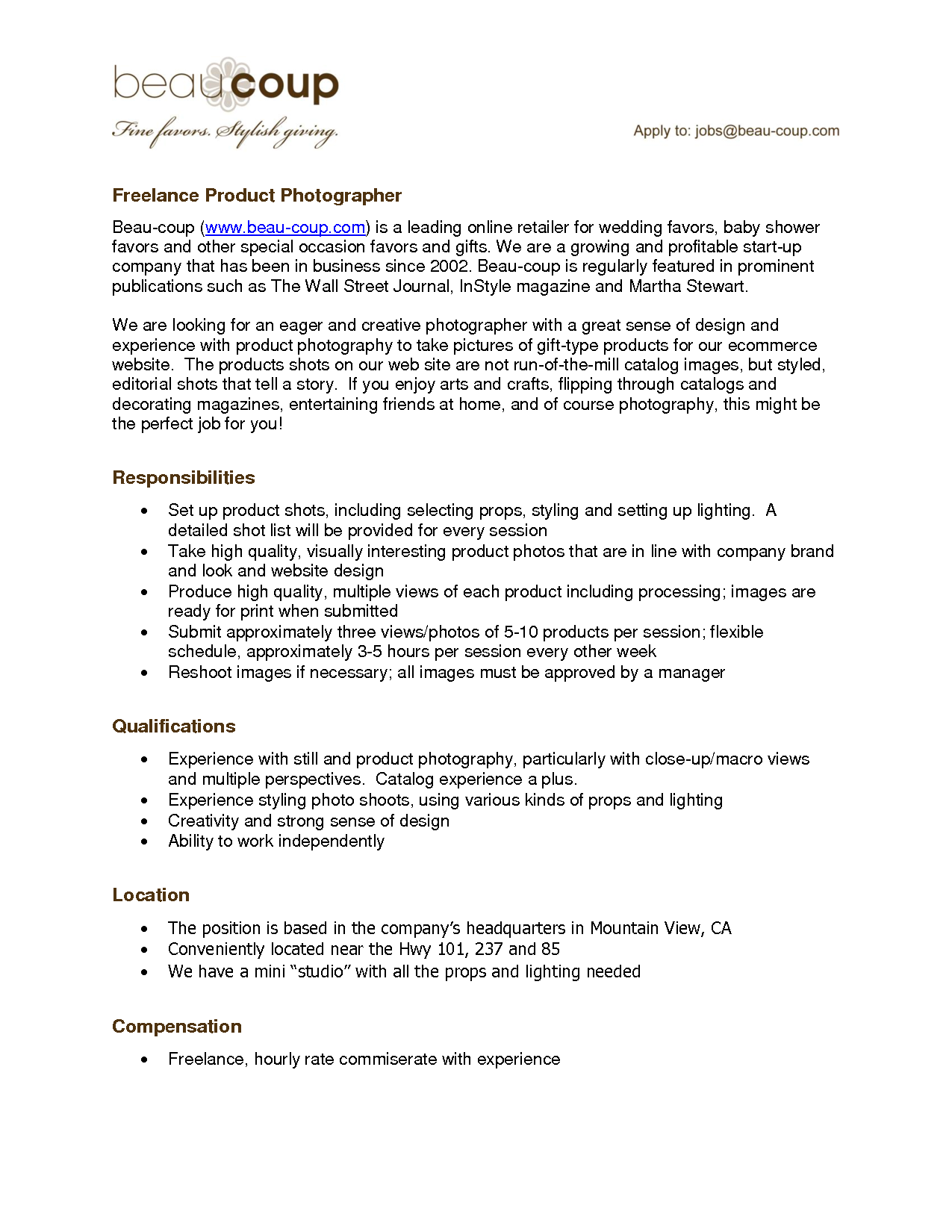Resume For A Photographer. Freelance Photographer Resume, Freelance ...